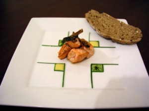 Salmon with two dressings & crispy salmon skin